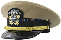 US NAVY OFFICER KHAKI HAT