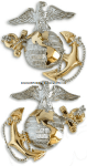 USMC Dress Uniform, Gold and Silver Collar devices