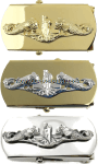 US Navy Submarine Officer Belt Buckle