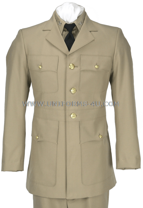 US Navy Male Service Dress Khaki (SDK) Jacket, worn by Officers and ...