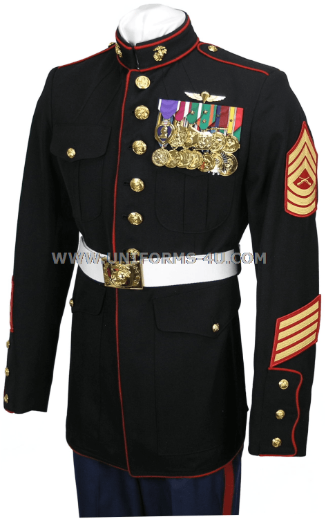 usmc enlisted dress blue coat