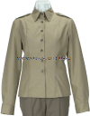 U.S. ARMY FEMALE ARMY GREEN SERVICE UNIFORM (AGSU) LONG-SLEEVE OVERBLOUSE