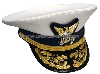 COAST GUARD ADMIRAL COMBINATION CAP (O-7 TO O-10)