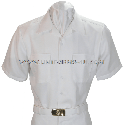 Navy Enlisted White CNT Shirt is worn with the summer white uniform ...