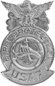 usaf firefighter badge mirrored