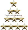 gold star attachment for ribbons and medals