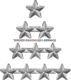 silver star attachment for ribbons and medals