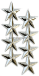 FOUR STAR POINT TO CENTER NICKEL PLATED SHOULDER RANK