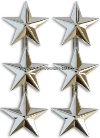 LIEUTENANT GENERAL / VICE ADMIRAL 3-STAR SHOULDER RANK INSIGNIA
