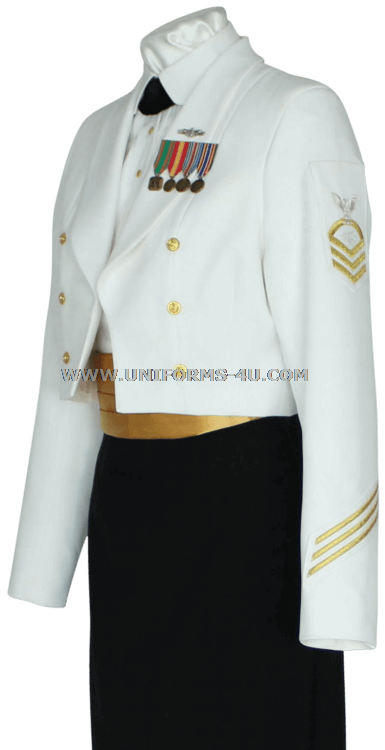 fe5ef17da US NAVY FEMALE DINNER DRESS WHITE COAT