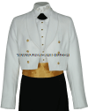U.S. NAVY OFFICER/ENLISTED FEMALE DINNER DRESS WHITE JACKET