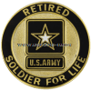 U.S. ARMY SOLDIER FOR LIFE RETIRED SERVICE ID BADGE
