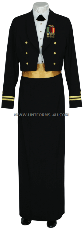 Us Navy Female Dinner Dress Blue Coat