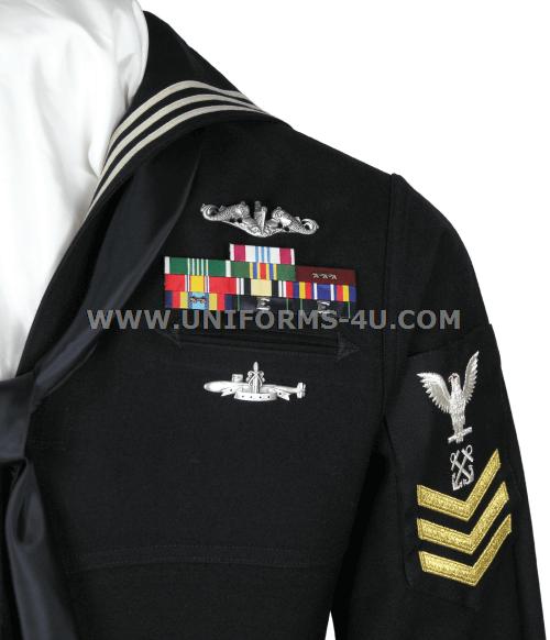 Us Navy Enlisted Dress Blue Uniform