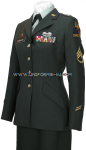 US ARMY FEMALE GREEN ENLISTED UNIFORM