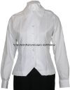 US Army ASU White Female Overblouse Long Sleeve