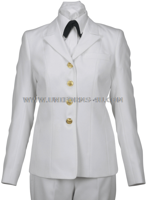 us navy female service dress white coat made of authorized white light ...