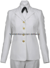 U.S. NAVY FEMALE OFFICER/CPO SERVICE DRESS WHITE COAT (PRE-2020)