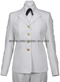 US Navy Female Service Dress White Coat