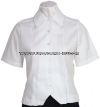 US ARMY ASU WHITE FEMALE OVERBLOUSE SHORT SLEEVE