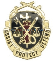 army military police corps regimental uniform crest
