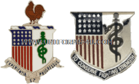 army medical corps regimental uniform crest