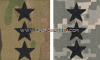U.S. ARMY COMBAT UNIFORM (ACU) LIEUTENANT GENERAL RANK INSIGNIA