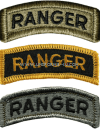 U.S. ARMY RANGER TAB PATCH