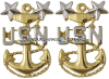 U.S. NAVY MASER CHIEF PETTY OFFICER COLLAR DEVICES (E-9)