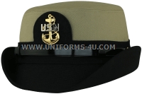 us navy female CPO khaki hat