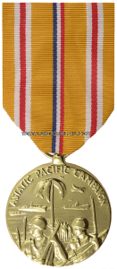 asiatic pacific campaign  anodized medal