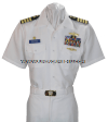 U.S. NAVY MALE OFFICER SUMMER WHITE SERVICE UNIFORM