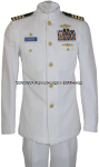 US NAVY SERVICE DRESS WHITE (SDW) OFFICER UNIFORM