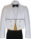 U.S. NAVY MALE OFFICER/ENLISTED DINNER DRESS WHITE JACKET