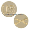 us army enlisted - us and infantry  collar device