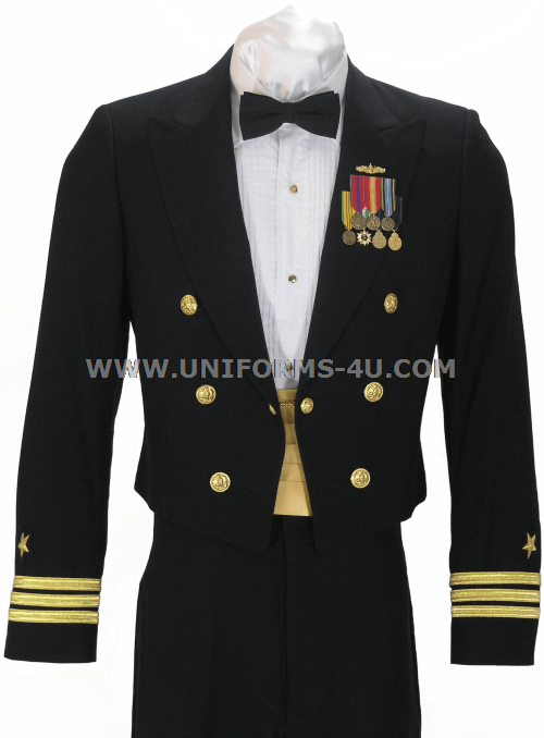 This Customizable US Navy Officer Dinner Dress Blue Uniform is Worn to ...