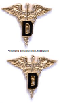U.S. Army Dental Corps Collar Devices
