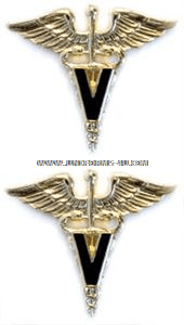 U.S. ARMY VETERINARY CORPS COLLAR DEVICES