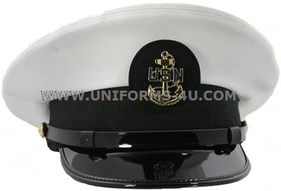 U S  NAVY CHIEF PETTY OFFICER WHITE COMBINATION CAP