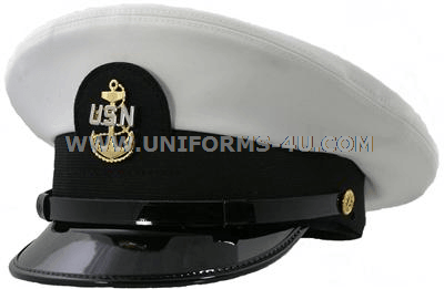 U.S. NAVY CHIEF PETTY OFFICER WHITE COMBINATION CAP 86d8f135440