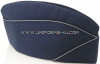 us air force officer's garrison cap with blue - silver cordedge