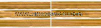 US ARMY SERVICE STRIPE GOLD ON WHITE SET OF 3 STRIPES