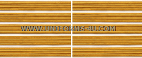 US ARMY SERVICE STRIPE GOLD ON WHITE SET OF 5 STRIPES
