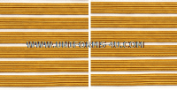 US ARMY SERVICE STRIPE GOLD ON WHITE SET OF 6 STRIPES