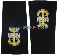 U.S. NAVY MASTER CHIEF PETTY OFFICER (E9) SOFT EPAULETS