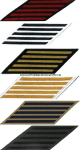 U.S. NAVY SERVICE STRIPES (HASH MARKS) SET OF 5