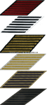 U.S. NAVY SERVICE STRIPES (HASH MARKS) SET OF 7