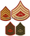 USMC GUNNERY SERGEANT SEW-ON CHEVRONS