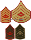 USMC MASTER SERGEANT SEW-ON CHEVRONS