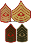 USMC FIRST SERGEANT SEW-ON CHEVRONS